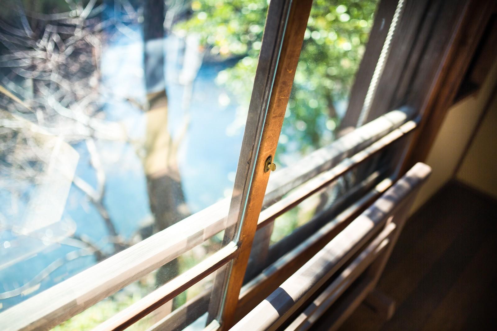 窓サッシ掃除